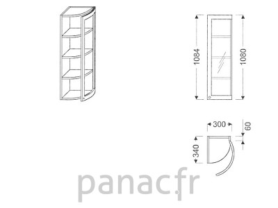 Meuble haut de cuisine GO-30/1084 FP