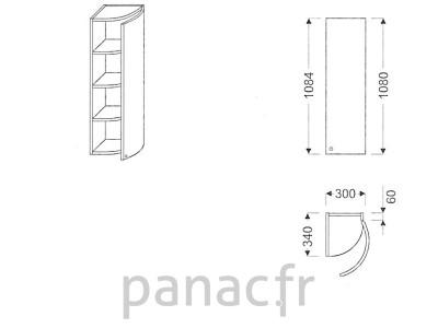 Meuble haut de cuisine GO-30/1084 P