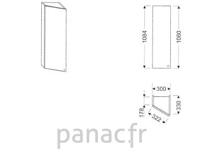 Meuble haut de cuisine GS-30/1084 L