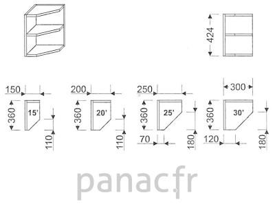 Meuble haut de cuisine G-200/424 P