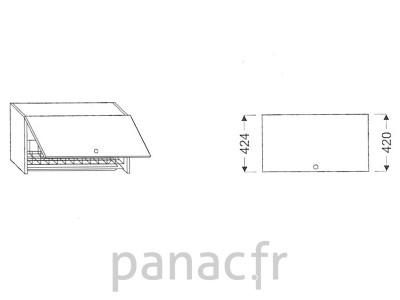 Meuble haut de cuisine G-45/424 GS
