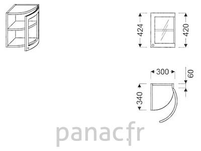 Meuble haut de cuisine G0-30/424 FP