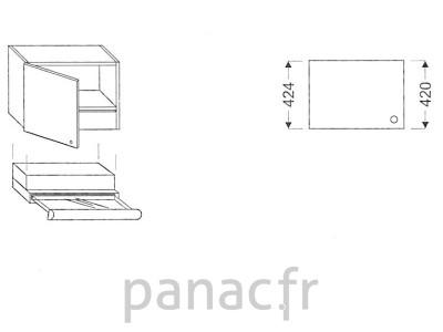Meuble haut de cuisine OK-60/424 L SLIM
