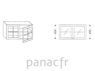 meuble haut de cuisine g 90 484 f. Black Bedroom Furniture Sets. Home Design Ideas