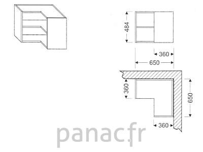 Meuble haut de cuisine GN-650x65040/484