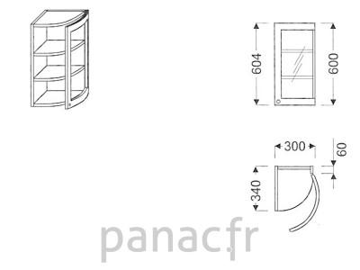 Meuble haut de cuisine GO-30/604 FP
