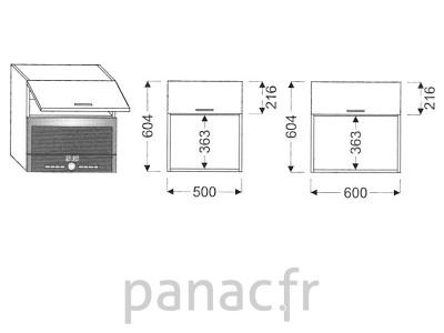 Meuble haut de cuisine GM-60/604 NG