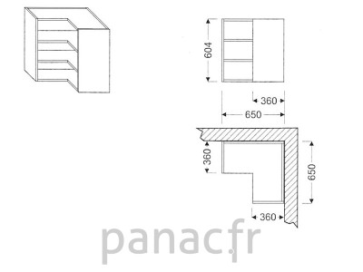 Meuble haut de cuisine GN-650x650/604