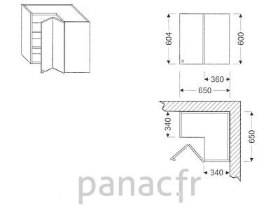 Meuble haut de cuisine GN-65x65/604 NP