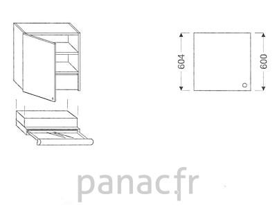 Meuble haut de cuisine OK-60/604 L SLIM