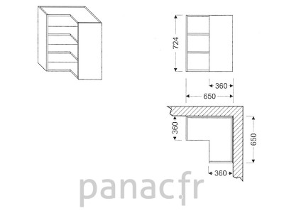 Meuble haut de cuisine GN-650x650/724