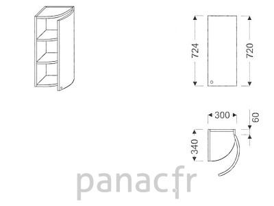 Meuble haut de cuisine GO-30/724 P