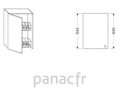Meuble haut de cuisine G-60/844 NS L