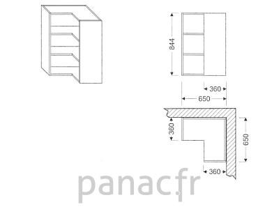 Meuble haut de cuisine GN-650x650/844