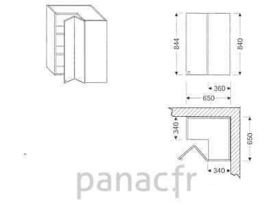 Meuble haut de cuisine GN-65x65/844 NP