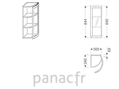 Meuble haut de cuisine GO-30/844 FP