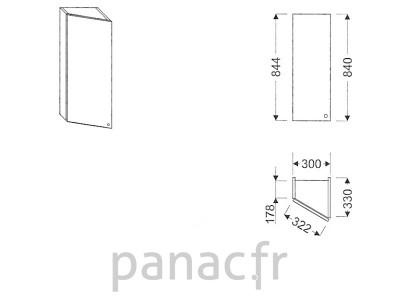Meuble haut de cuisine GS-30/844 L