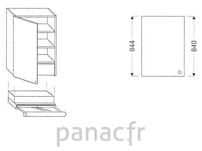 Meuble haut de cuisine OK-60/844 L SLIM