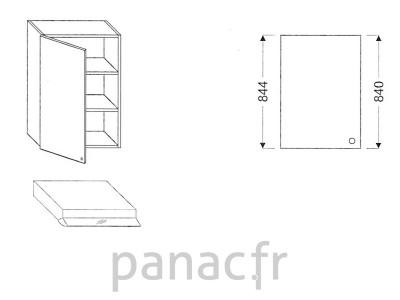 Meuble haut de cuisine OK-60/844 L