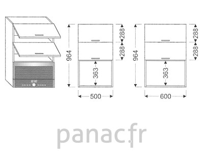 Meuble haut de cuisine GM-50/964 NGG