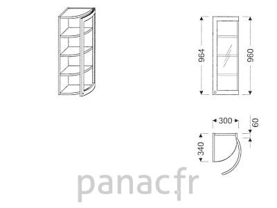 Meuble haut de cuisine GO-30/964 FP