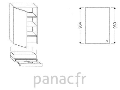 Meuble haut de cuisine OK-60/964 L SLIM