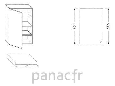 Meuble haut de cuisine OK-60/964 L