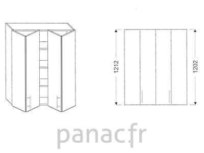 Armoire de cuisine V-90/1212 LB