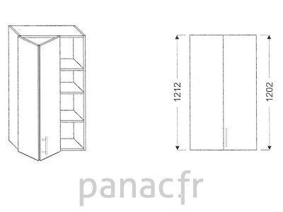 Armoire de cuisine V-45/1212 LB L