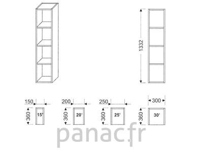 Armoire de cuisine G-150/1332 R