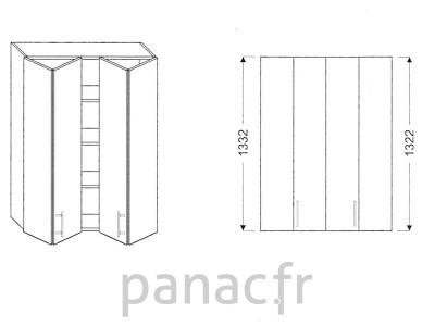 Armoire de cuisine V-90/1332 LB