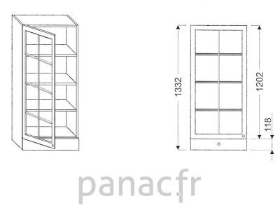 Armoire de cuisine V-45/1332 FL