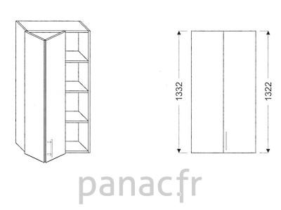 Armoire de cuisine V-70/1332 LB L