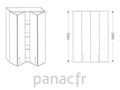 Armoire de cuisine V-80/1452 LB