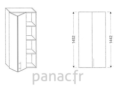 Armoire de cuisine V-70/1452 LB L