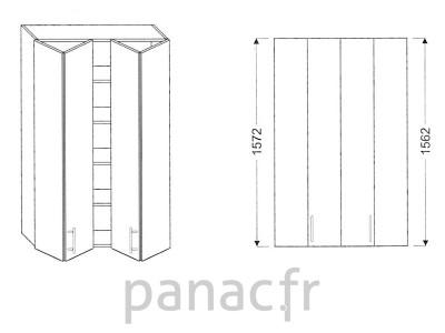 Armoire de cuisine V-100/1572 LB