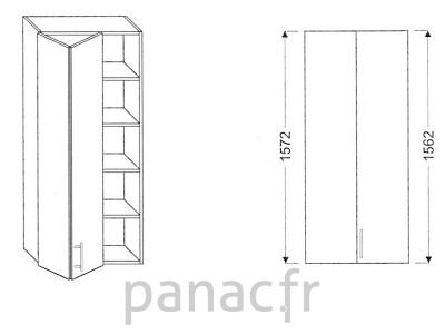 Armoire de cuisine v 60 1572 lb l Boitier relevant pour double porte de meuble cuisine