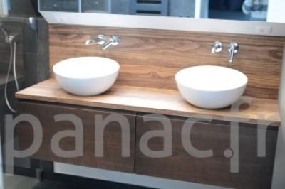 Plan vasque en bois sur mesure